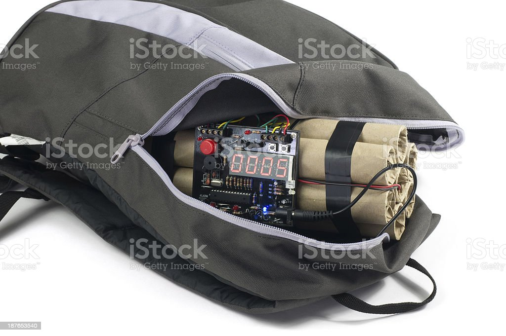 Time Bomb Inside the Bag stock photo
