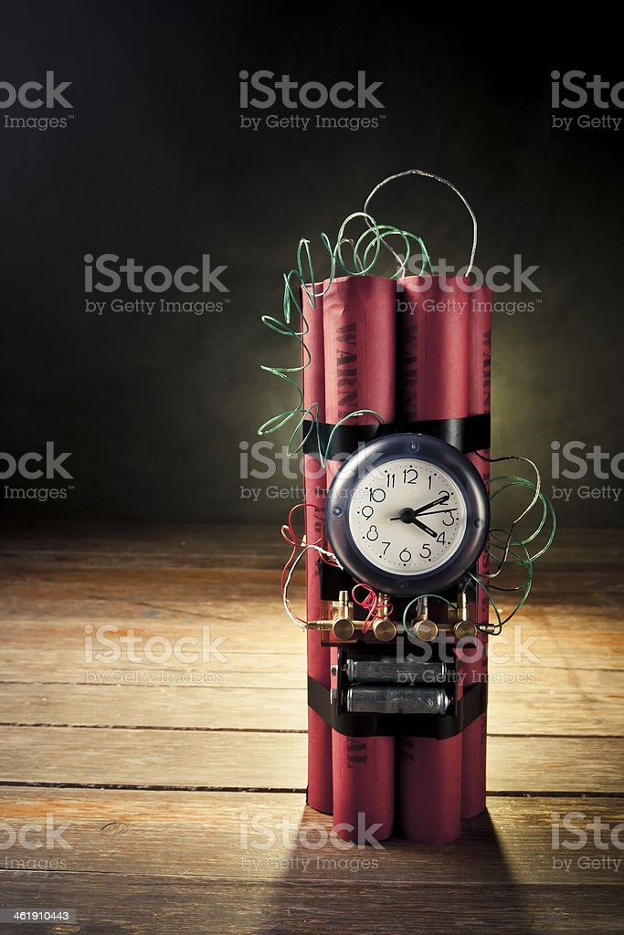 time bomb on a dark background royalty-free stock photo