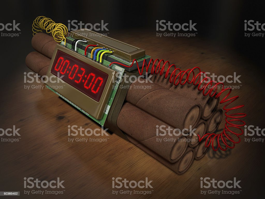 Time Bomb royalty-free stock photo