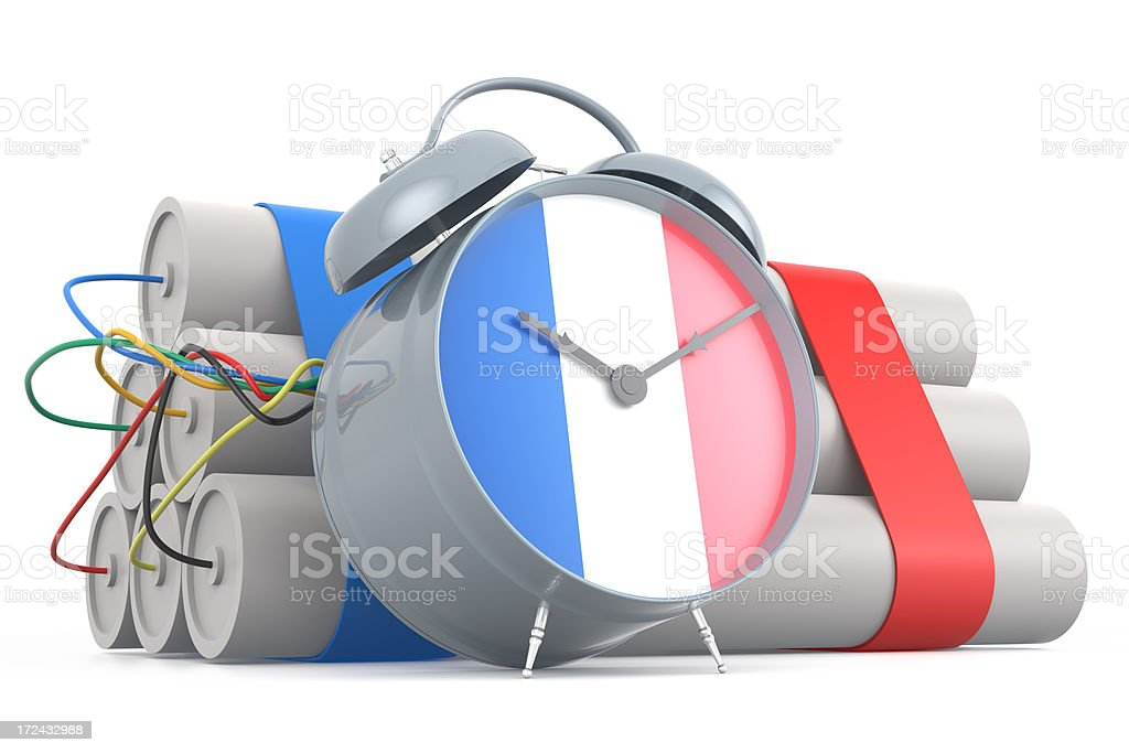 Time Bomb with French Flag royalty-free stock photo