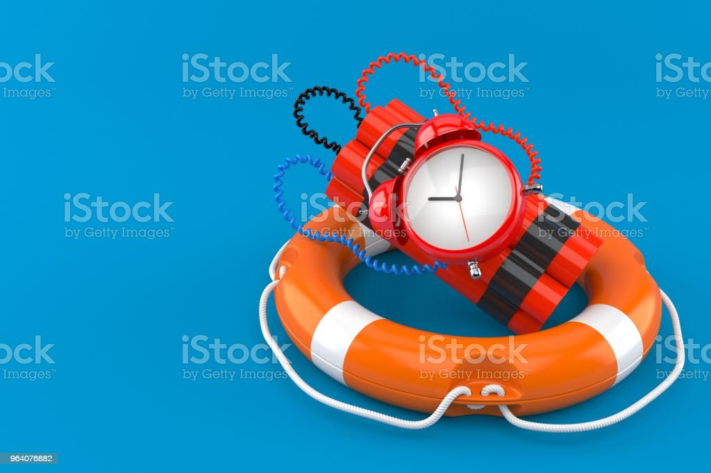 Time bomb with life buoy - Royalty-free A Helping Hand Stock Photo