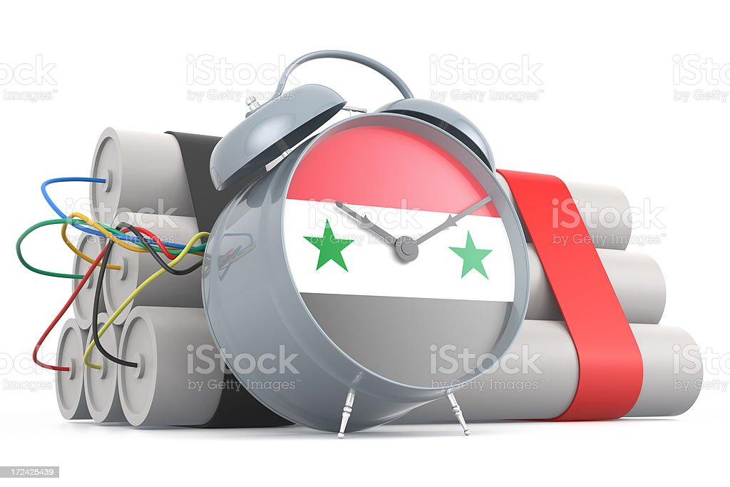 Time Bomb with Syrian Flag royalty-free stock photo