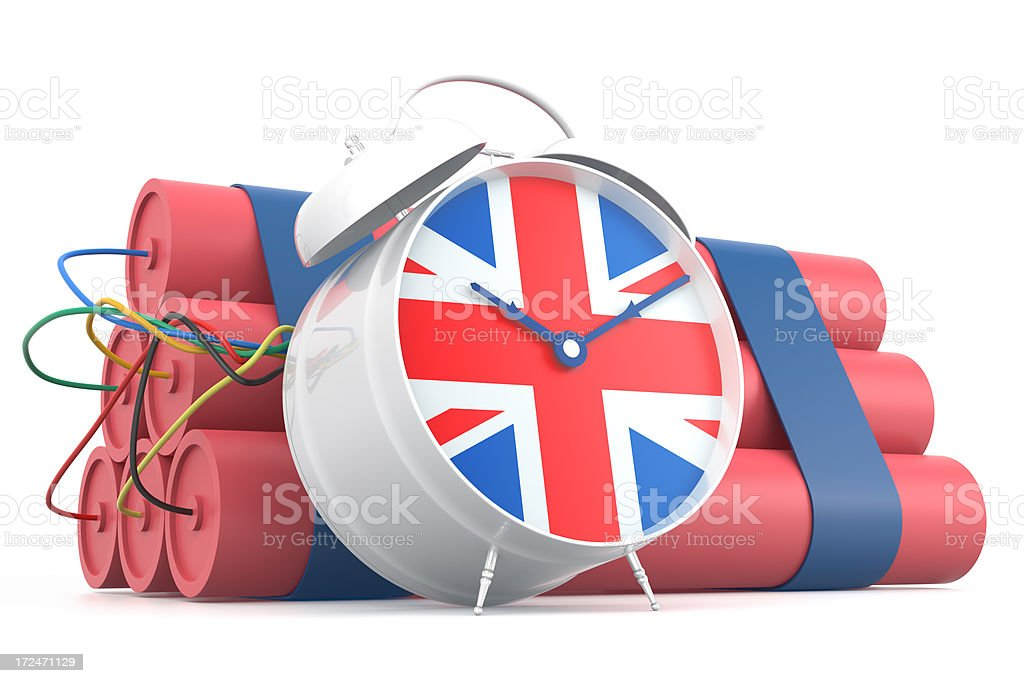 Time Bomb with U.K. Flag royalty-free stock photo