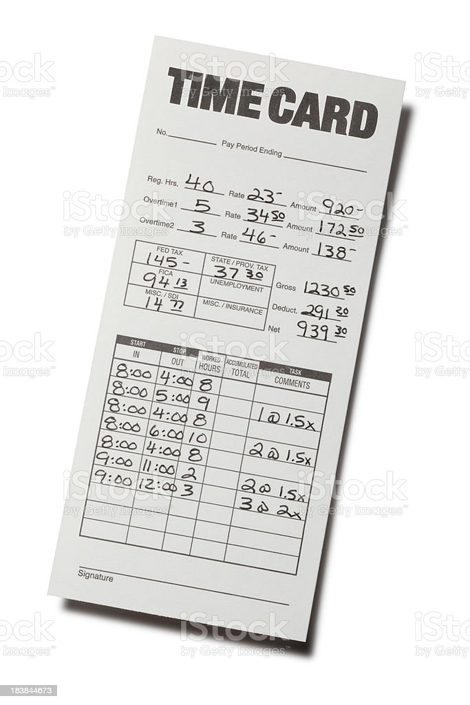 Time Card royalty-free stock photo