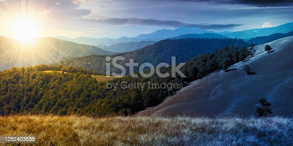 1074120624 istock photo time change concept in mountain landscape 1252403535