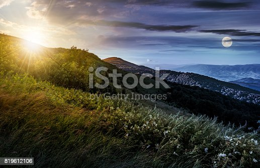 1074120624 istock photo time change concept over grassy meadow on a hillside 819612106