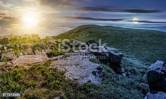 1074120624 istock photo time change concept with huge boulders on the edge of hillside 817313590