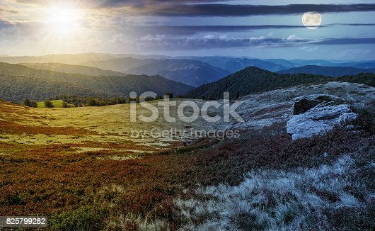1074120624 istock photo time change over stones on the edge of mountain hillside 825799282