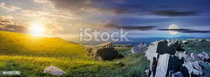 1074120624 istock photo time change over the panorama of Runa mountain 964061760