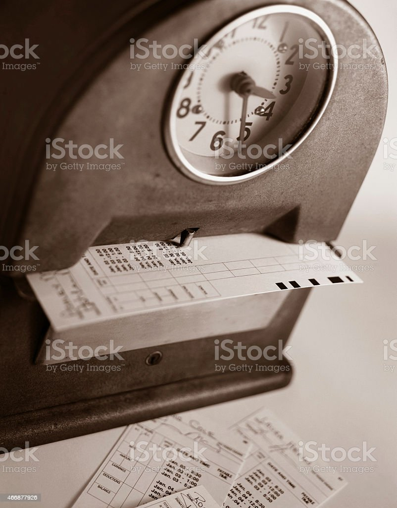 Time clock. stock photo