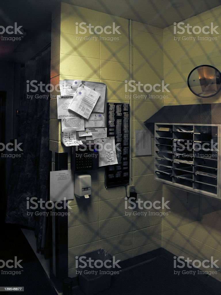 Time Clock Station - PUNCH IN! stock photo