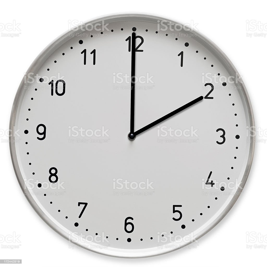 Time concept- 2 o clock royalty-free stock photo