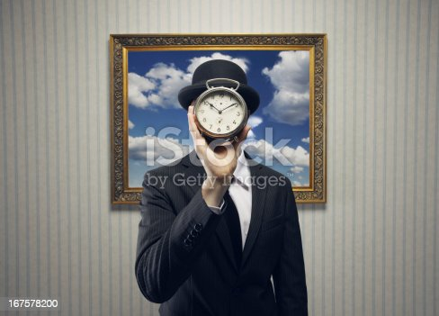 Businessman with a Clock for his Face
