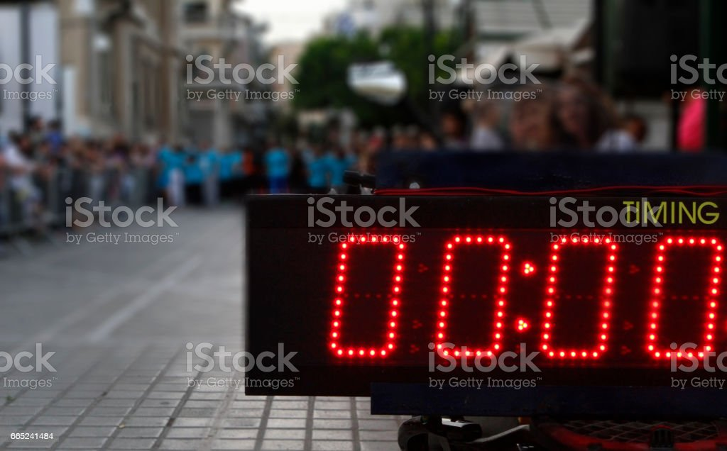 time counter digital display stock photo