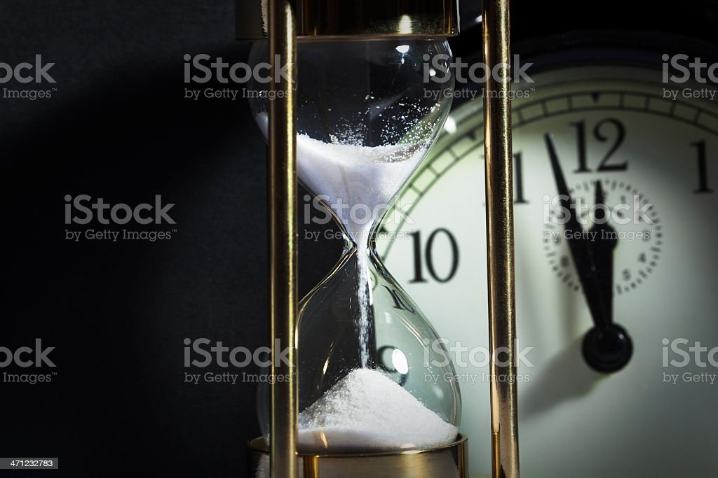 Time Deadline Hourglass Clock royalty-free stock photo