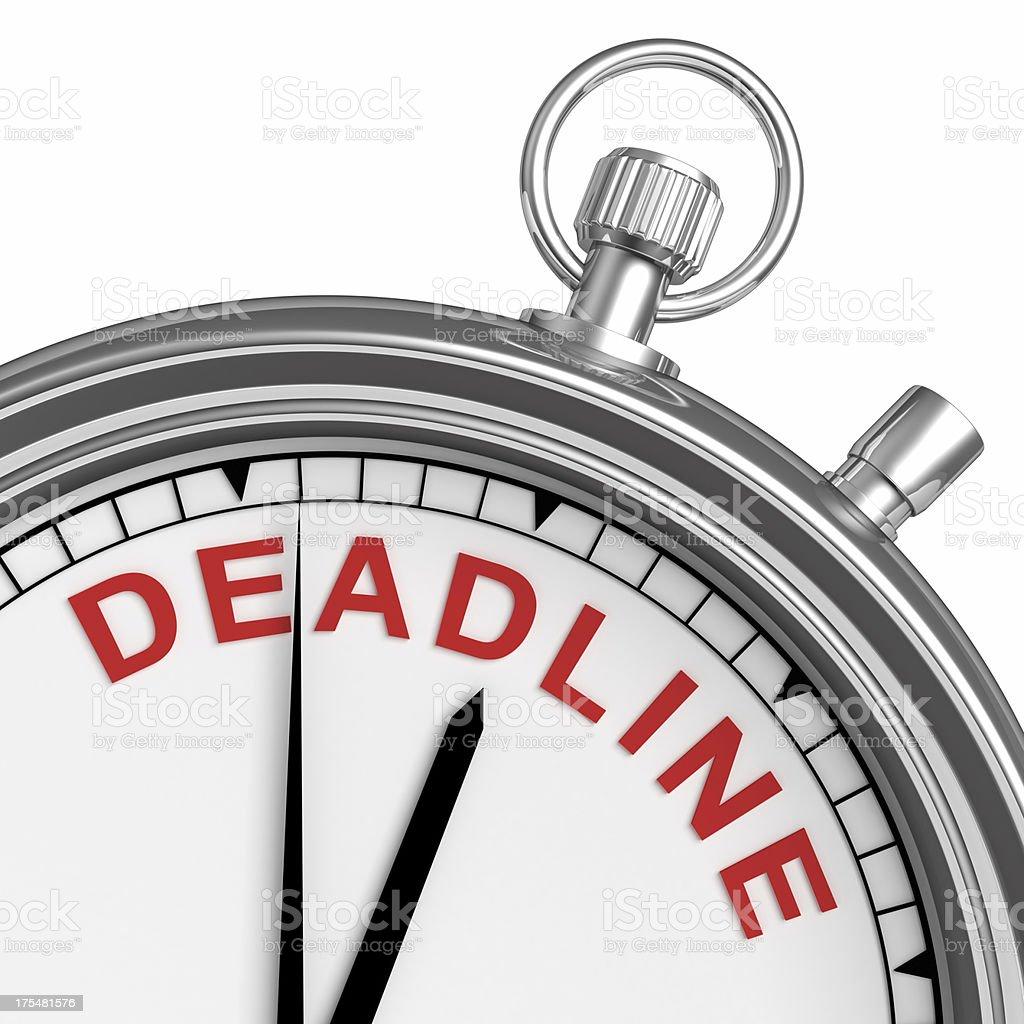 Time Deadline royalty-free stock photo