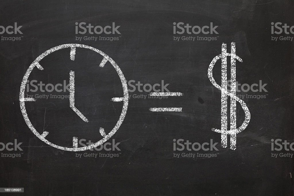 Time Equals Money stock photo