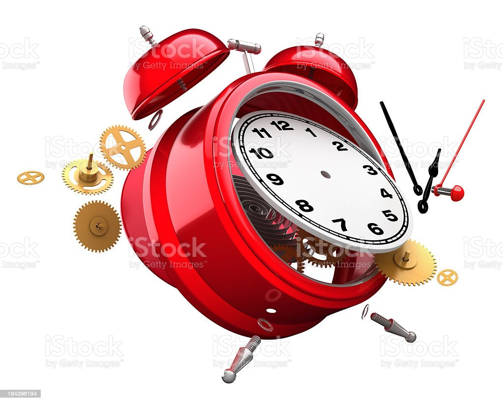 Time explosion stock photo