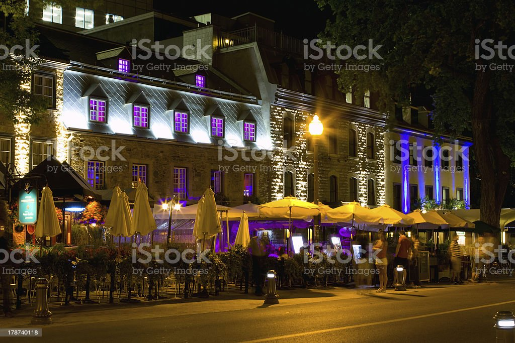 Time Exposure of Grand Allee In Quebec, Canada royalty-free stock photo