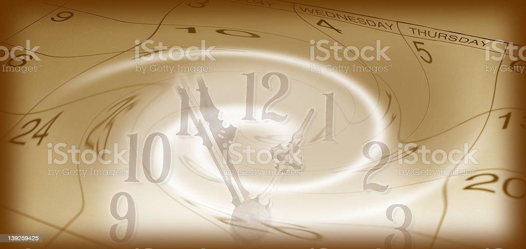 Time Flies Antique stock photo