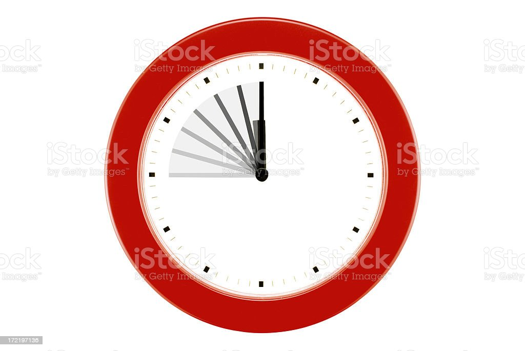 Time Flies! - Isolated Wall Clock royalty-free stock photo