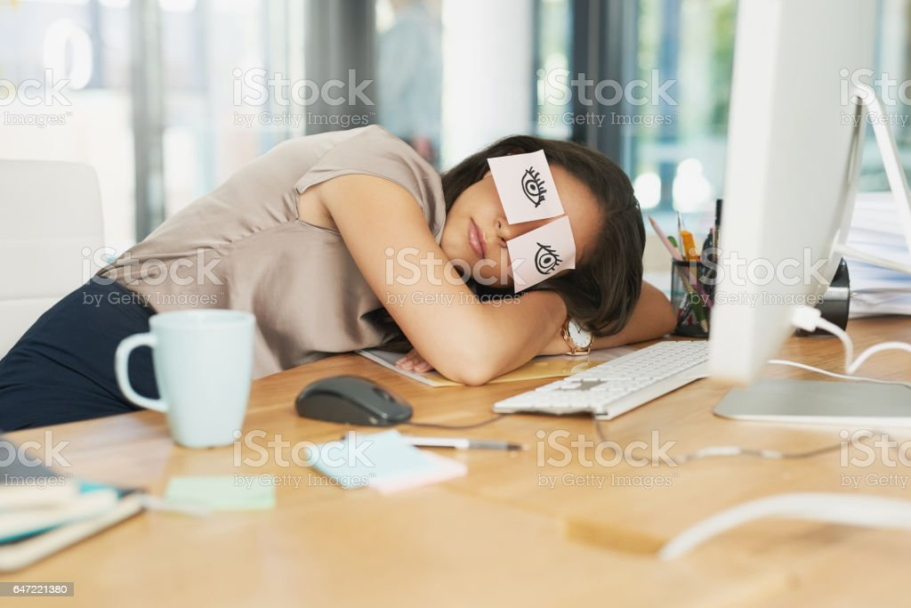 Time for a catnap stock photo