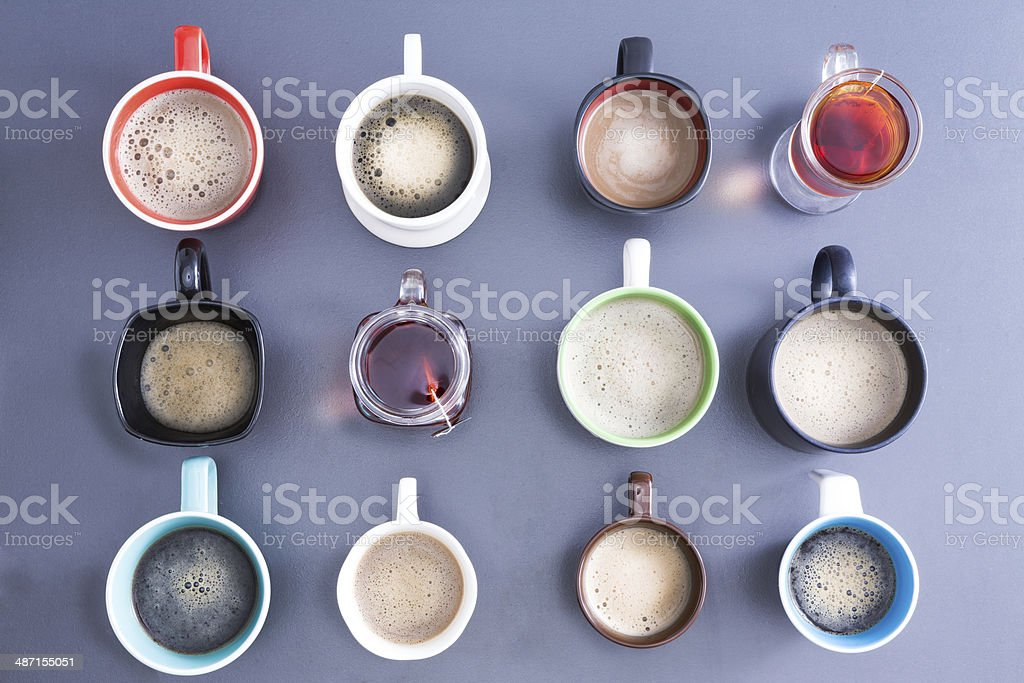 Zeit für eine Kaffeepause oder einen Nachmittagstee - Lizenzfrei Arabica-Kaffee - Getränk Stock-Foto