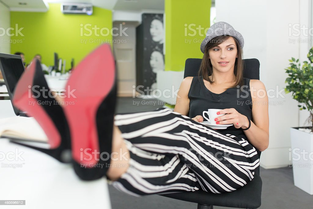 Time For A Coffee Break stock photo