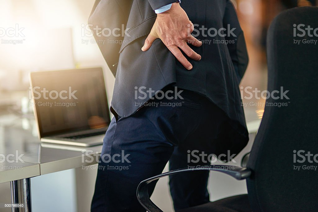 Time for a new office chair stock photo