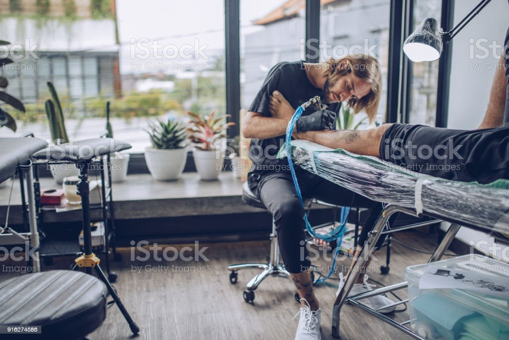 Time for a new tattoo stock photo