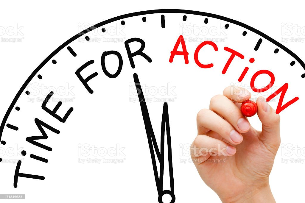Time for Action royalty-free stock photo