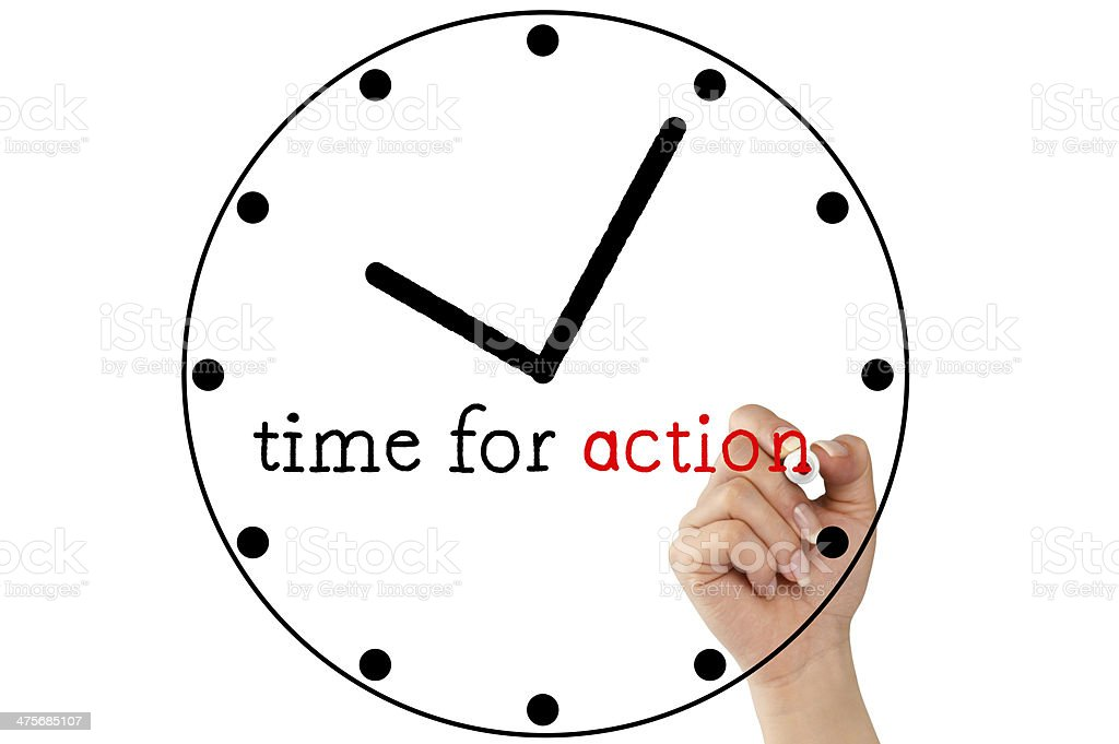 Time For Action (Click for more) royalty-free stock photo