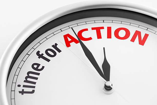 Time For Action stock photo