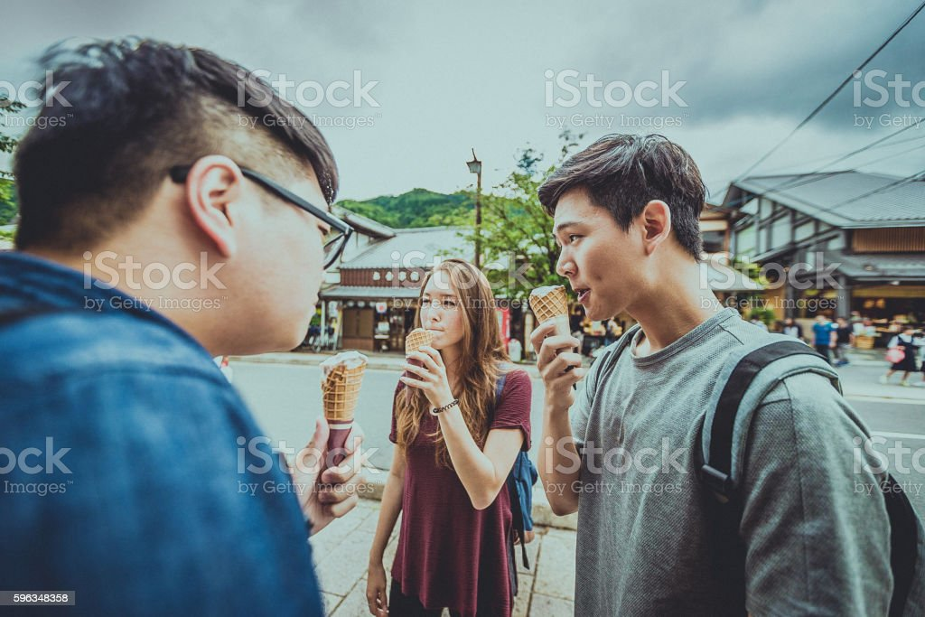 Time for an ice-cream break royalty-free stock photo