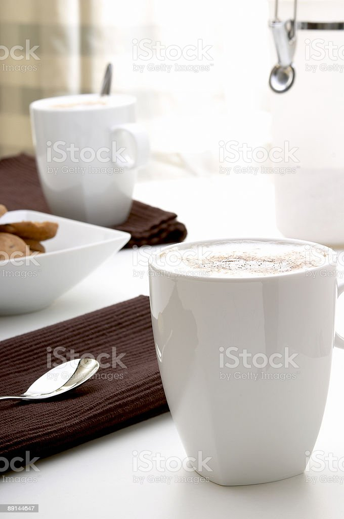 Time for cappuccino I stock photo