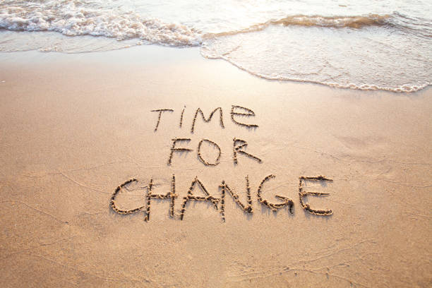time for change, concept of new life - foto de stock