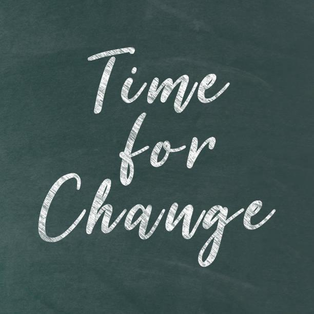 Zeit für Veränderung. Inspirierenden kreative Motivation Zitat – Foto