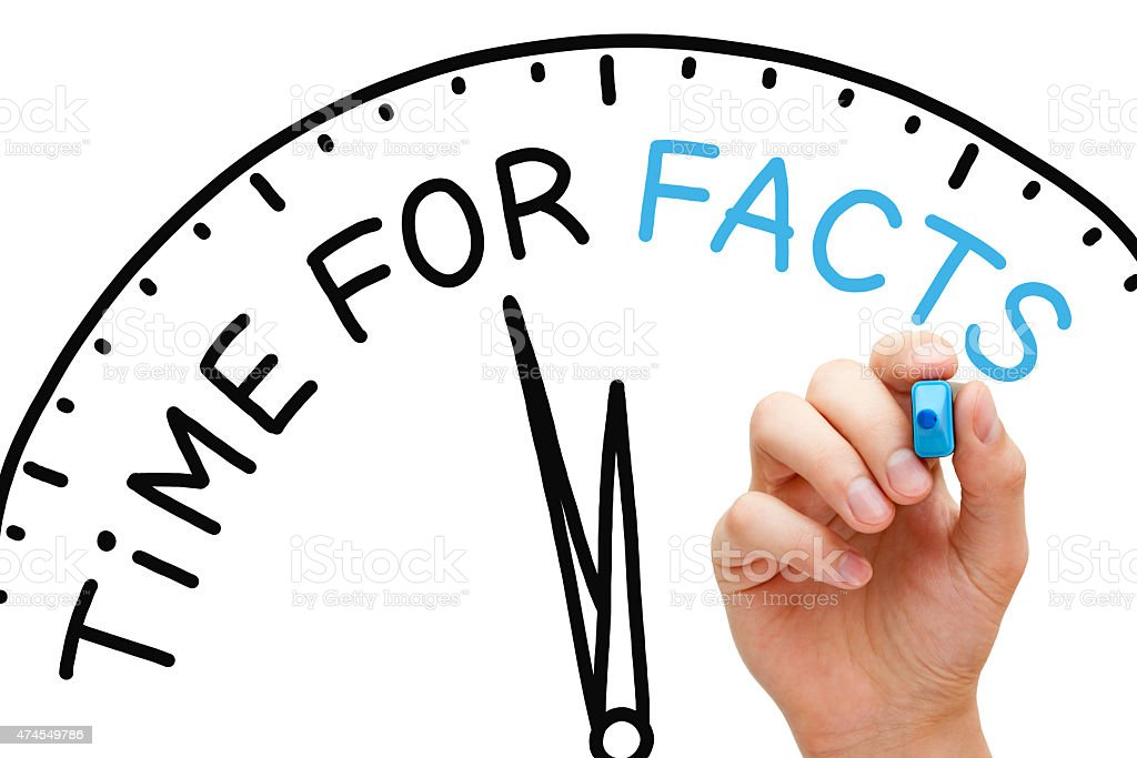 Time for Facts stock photo