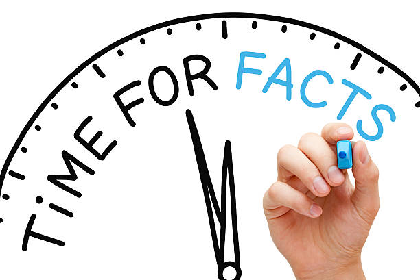 Time for Facts Hand writing Time for Facts concept with blue marker on transparent wipe board. information equipment stock pictures, royalty-free photos & images