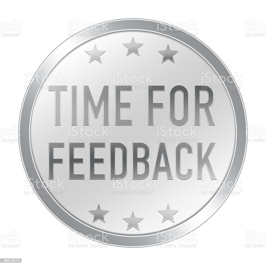 Time for Feedback button stock photo