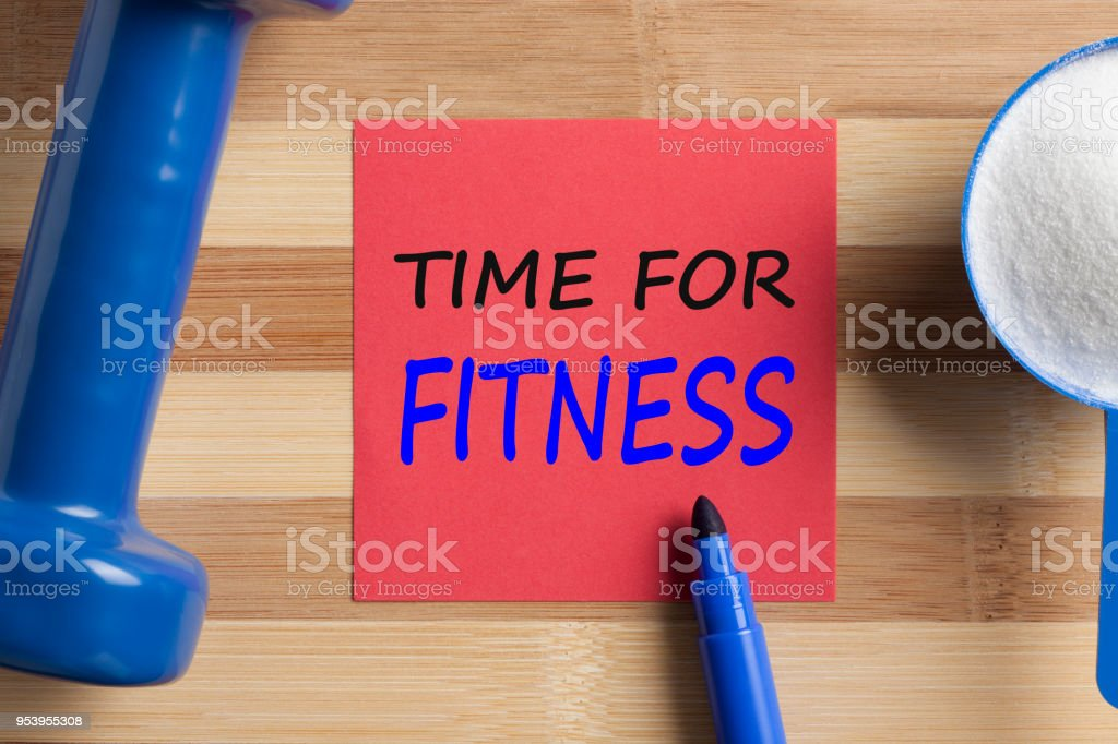 Time For Fitness Concept stock photo