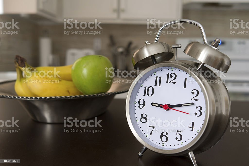 time for fruits breakfeast stock photo