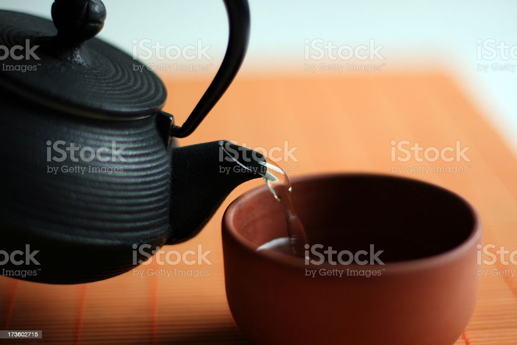 Time for Green Tea stock photo