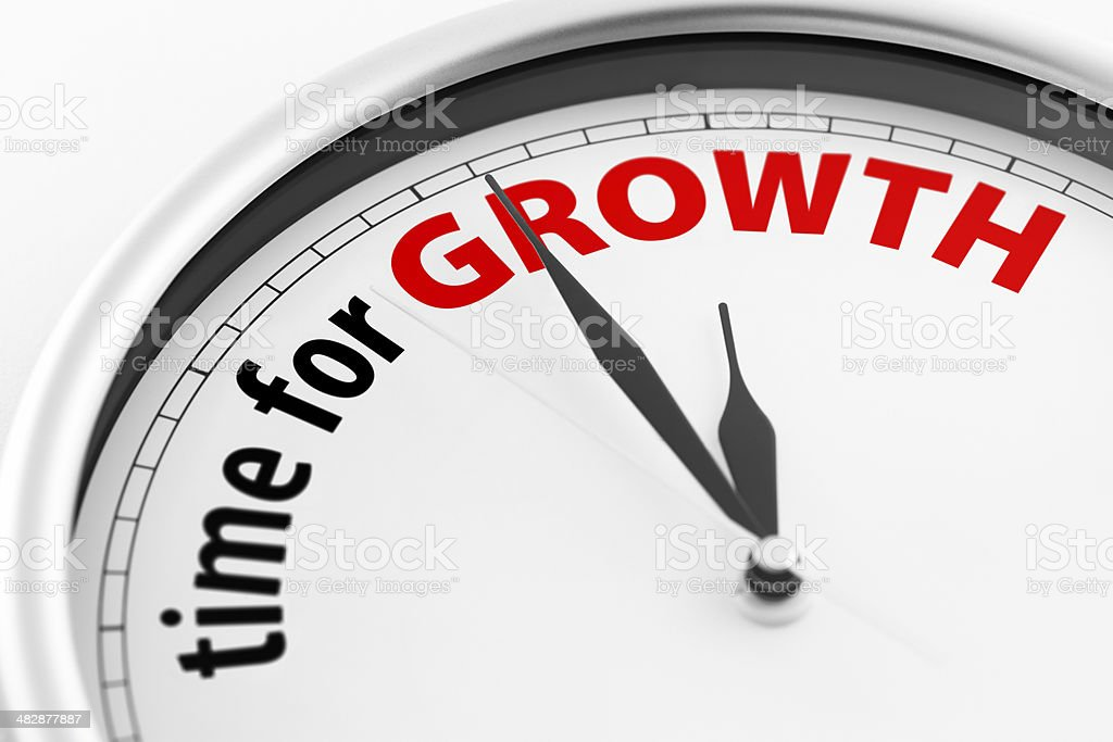 Time For Growth royalty-free stock photo