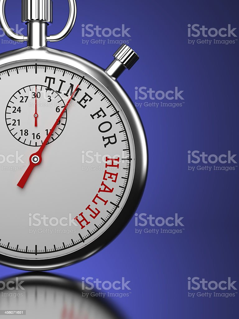 Time For Health Concept. royalty-free stock photo