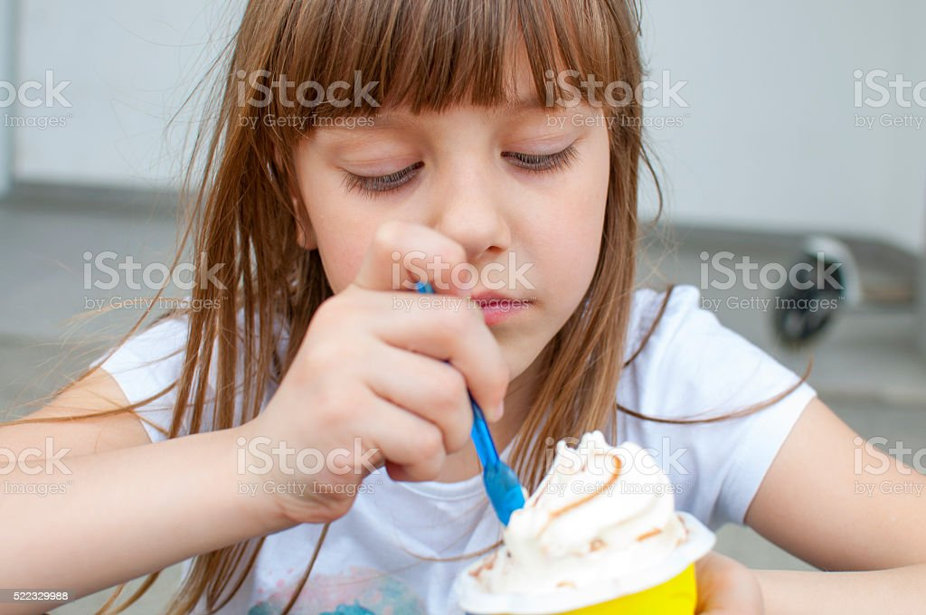 Time for ice cream stock photo