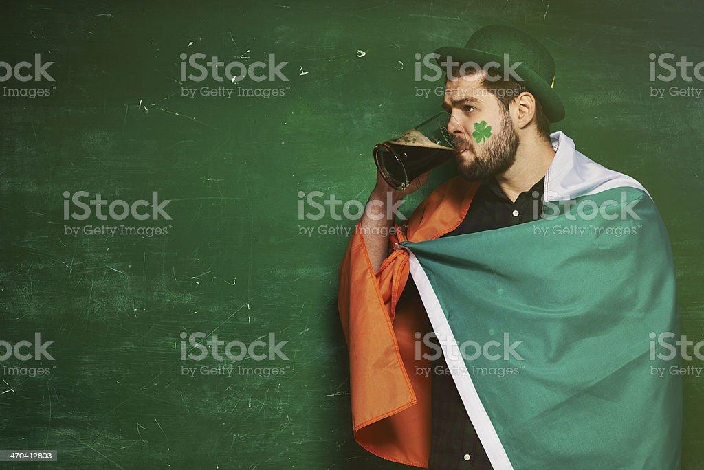 Time for Irish stout stock photo
