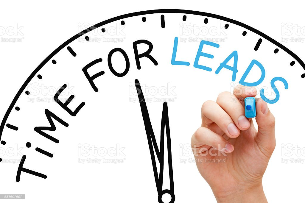 Time for Leads Concept stock photo