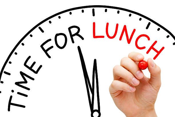 time for lunch - lunchrast bildbanksfoton och bilder