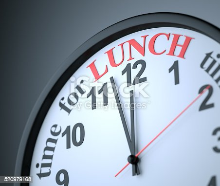 Time for Lunch , 3d render
